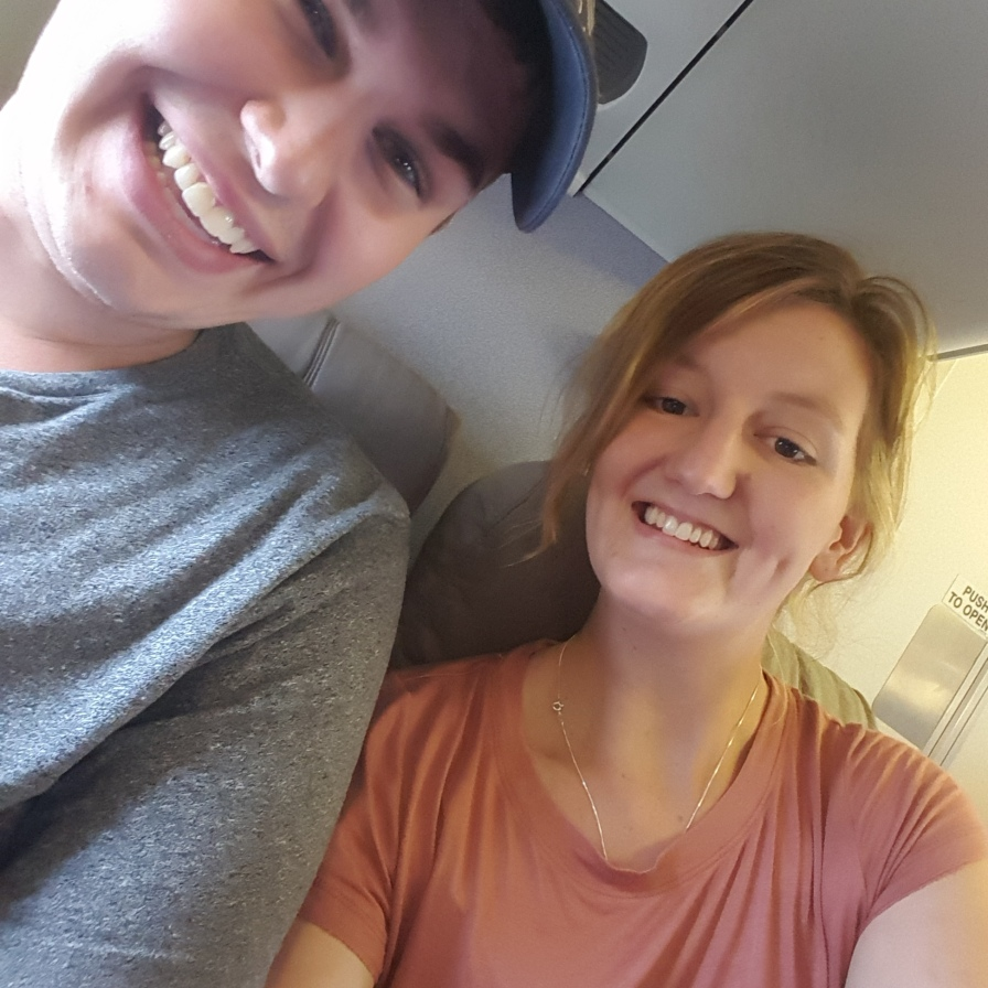 This was his first time flying!