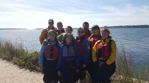 We went kayaking at Portland Maine
