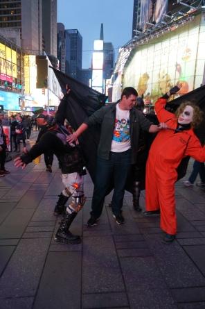 He met Batman!