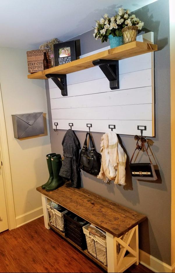 DIY Entryway Coat Rack